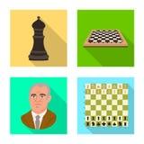 Projeto do vetor do checkmate e do logotipo fino Coleção do símbolo de ações do checkmate e do alvo para a Web ilustração stock