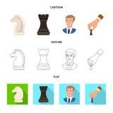 Projeto do vetor do checkmate e do logotipo fino Cole??o do ?cone do vetor do checkmate e do alvo para o estoque ilustração royalty free