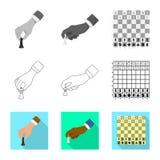 Projeto do vetor do checkmate e do logotipo fino Cole??o do ?cone do vetor do checkmate e do alvo para o estoque ilustração do vetor