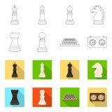 Projeto do vetor do checkmate e do logotipo fino Cole??o da ilustra??o do vetor do estoque do checkmate e do alvo ilustração royalty free
