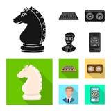Projeto do vetor do checkmate e do símbolo fino Ajuste da ilustração do vetor do estoque do checkmate e do alvo ilustração do vetor