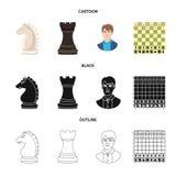 Projeto do vetor do checkmate e do símbolo fino Ajuste do símbolo de ações do checkmate e do alvo para a Web ilustração stock
