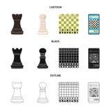 Projeto do vetor do checkmate e do s?mbolo fino Ajuste da ilustra??o do vetor do estoque do checkmate e do alvo ilustração stock