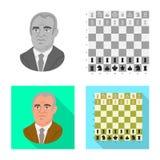 Projeto do vetor do checkmate e do s?mbolo fino Ajuste da ilustra??o do vetor do estoque do checkmate e do alvo ilustração royalty free