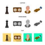 Projeto do vetor do checkmate e do s?mbolo fino Cole??o do s?mbolo de a??es do checkmate e do alvo para a Web ilustração do vetor