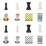 Projeto do vetor do checkmate e do sinal fino Ajuste da ilustra??o do vetor do estoque do checkmate e do alvo ilustração stock
