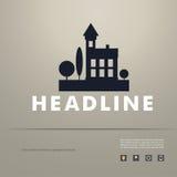 Projeto do vetor da arquitetura da cidade preta eps da silhueta Foto de Stock Royalty Free