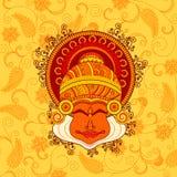 Projeto do vetor da cara do dançarino do kathakali Fotografia de Stock