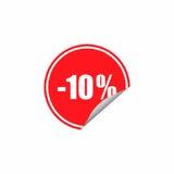 Projeto do vetor da etiqueta do disconto Imagem de Stock