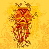 Projeto do vetor da lâmpada de suspensão de Diwali Fotos de Stock