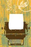Projeto do vetor da máquina de escrever Foto de Stock Royalty Free
