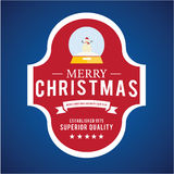 Projeto do vetor das etiquetas e dos crachás do Natal Elementos das decorações Imagem de Stock