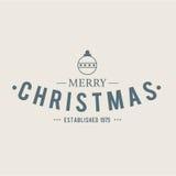 Projeto do vetor das etiquetas e dos crachás do Natal Elementos das decorações Fotografia de Stock Royalty Free