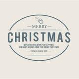 Projeto do vetor das etiquetas e dos crachás do Natal Elementos das decorações Imagem de Stock Royalty Free