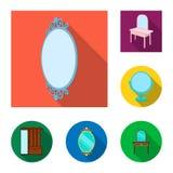 Projeto do vetor de e símbolo da aparência Ajuste de e ilustração do vetor do estoque da reflexão ilustração royalty free