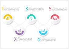 Projeto do vetor de Infographic para a empresa fotos de stock