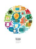 Projeto do vetor do ícone da EDUCAÇÃO Imagem de Stock Royalty Free