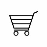 Projeto do vetor do ícone do carrinho de compras Imagens de Stock Royalty Free
