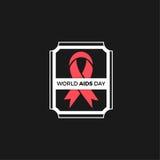 Projeto do vetor do Dia Mundial do Sida Fotos de Stock Royalty Free