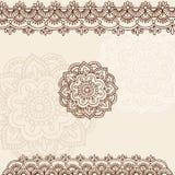 Projeto do vetor do Doodle de Mehndi Paisley do Henna Fotografia de Stock Royalty Free
