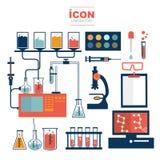 Projeto do vetor do laboratório do ícone Imagem de Stock