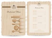Projeto do vetor do menu do restaurante ou do café Imagem de Stock Royalty Free