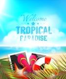 Projeto do vetor do paraíso do verão Fotos de Stock