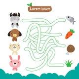 Projeto do vetor do jogo do labirinto ilustração stock