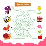 Projeto do vetor do jogo do labirinto ilustração royalty free