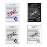 Projeto do vetor do logotipo do formulário e do original Coleção do símbolo de ações do formulário e da marca para a Web ilustração do vetor