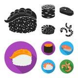 Projeto do vetor do logotipo do sushi e do arroz Coleção da ilustração do vetor do estoque do sushi e do atum ilustração royalty free