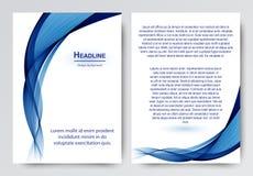 Projeto do vetor do molde para o folheto, informe anual, compartimento, cartaz, apresentação incorporada, inseto ilustração stock