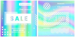 Projeto do vetor para bandeiras da Web da venda, cartazes Fotos de Stock Royalty Free