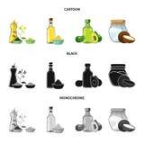 Projeto do vetor do símbolo saudável e vegetal Ajuste da ilustração conservada em estoque saudável e da agricultura do vetor ilustração do vetor