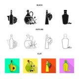 Projeto do vetor do símbolo saudável e vegetal Coleção da ilustração conservada em estoque saudável e da agricultura do vetor ilustração stock