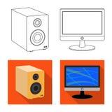 Projeto do vetor do sinal do portátil e do dispositivo Grupo da ilustração conservada em estoque do vetor do portátil e do servid ilustração do vetor