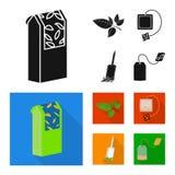 Projeto do vetor do sinal saudável e floral Coleção do símbolo de ações saudável e do inclinação para a Web ilustração royalty free