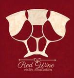 Projeto do vinho ilustração royalty free