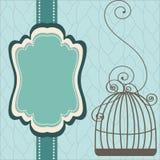 Projeto do vintage com birdcages Fotografia de Stock