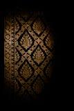 Projeto do vintage do papel de parede do fundo da textura do teste padrão de Tailândia Foto de Stock