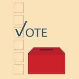 Projeto do voto com urnas de voto Ilustração Stock