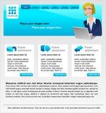 Projeto do Web site e do logotipo ilustração do vetor