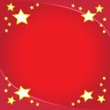 Projeto do Xmas com estrelas Fotos de Stock Royalty Free