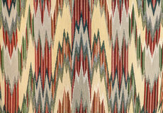 Projeto do ziguezague na matéria têxtil Fotografia de Stock Royalty Free