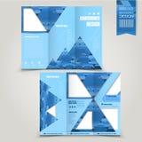 Projeto dobrável em três partes criativo do molde do folheto ilustração royalty free