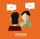 Projeto dos ícones da conversação ilustração do vetor