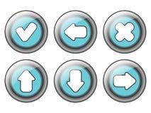 projeto dos botões da Web ilustração stock