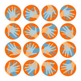 Projeto dos círculos da mão. Fotografia de Stock Royalty Free