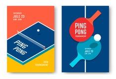 Projeto dos cartazes do tênis de mesa Fotografia de Stock Royalty Free