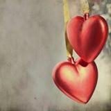 Projeto dos corações do vintage Fotografia de Stock Royalty Free